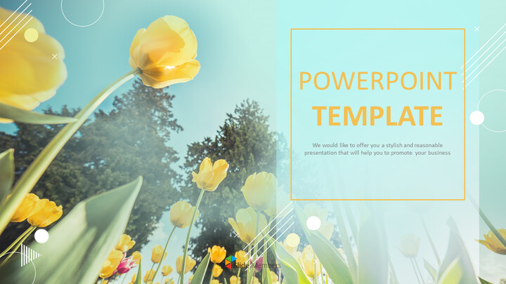 Yellow Tulip - PowerPoint Presentation Download Free_01