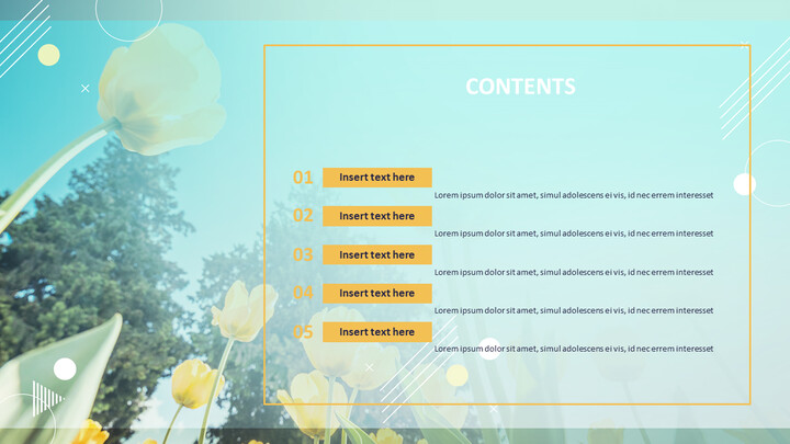Yellow Tulip - PowerPoint Presentation Download Free_02