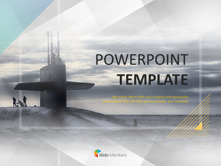 A Huge Submarine - Free Powerpoint Templates Design_01