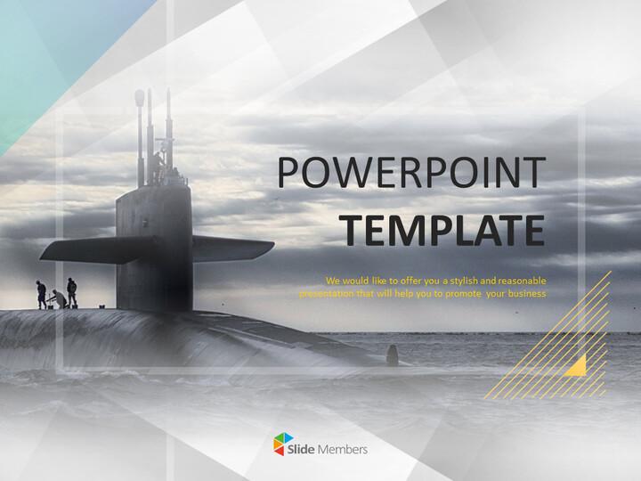 거대한 잠수함 - 무료 PowerPoint 템플릿 디자인_01