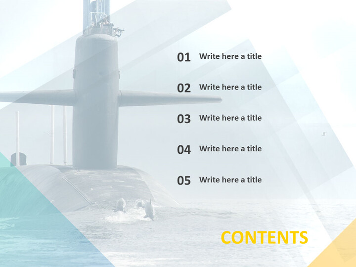 거대한 잠수함 - 무료 PowerPoint 템플릿 디자인_02