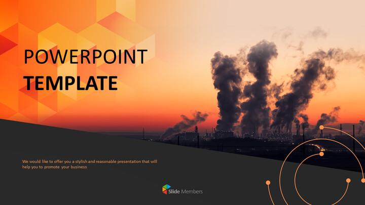 대기 오염 - 무료 PowerPoint 템플릿_01