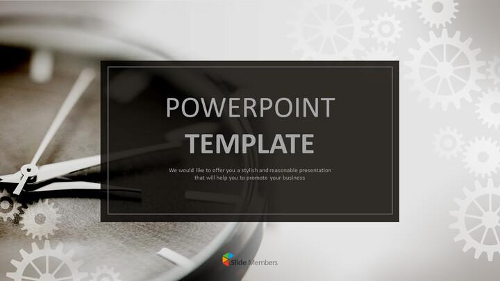 시계 장치 - 무료 전문가 파워포인트 템플릿_01