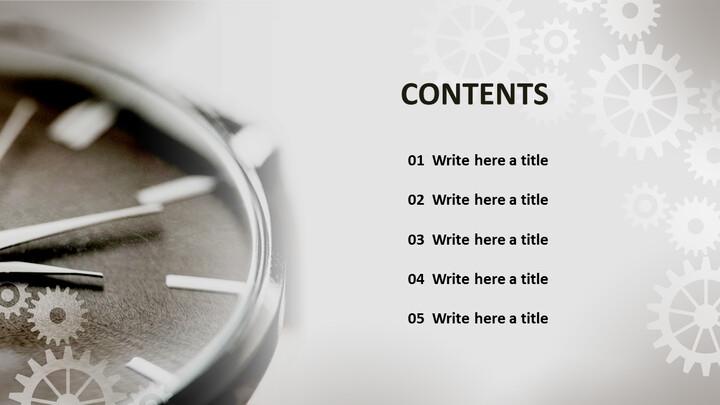 시계 장치 - 무료 전문가 파워포인트 템플릿_02