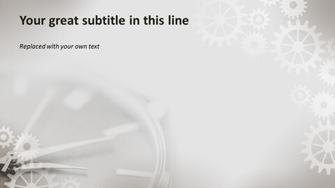 시계 장치 - 무료 전문가 파워포인트 템플릿_04