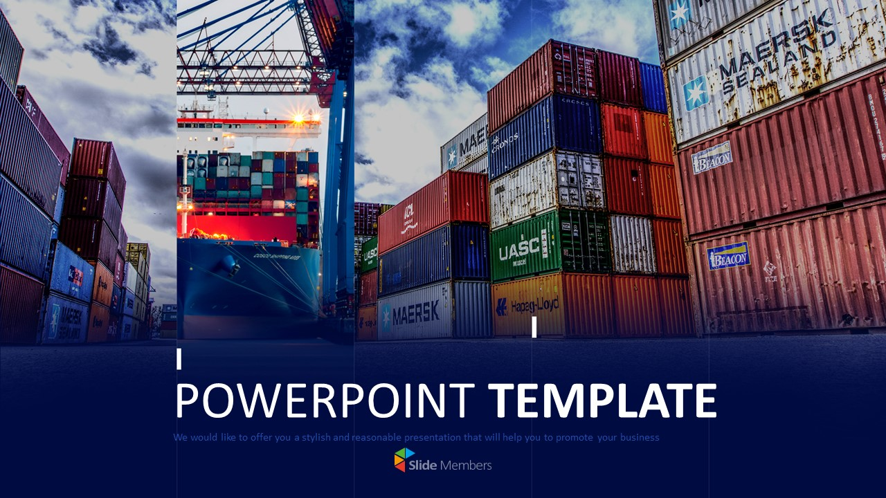 Container Box Powerpoint Template Free Download