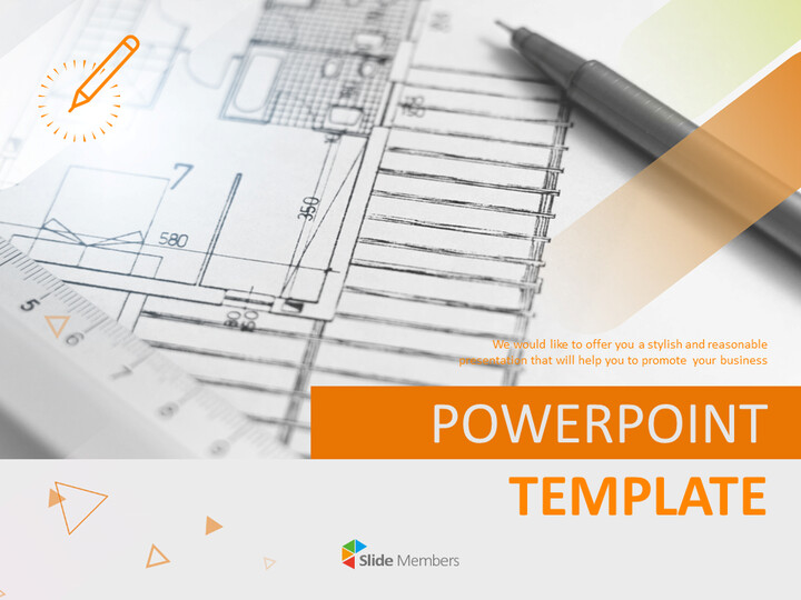 Design Drawing and Pen - Free Powerpoint Template_01