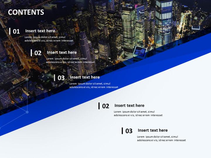 멋진 도시 전망 - 무료 파워포인트 샘플_02