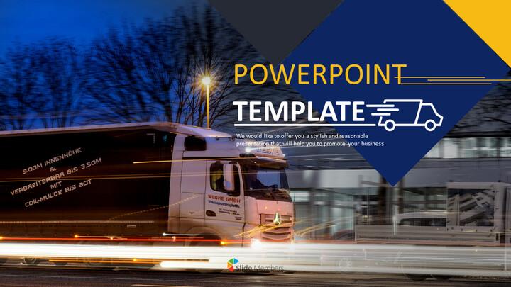 식품 유통 트럭 - 무료 PowerPoint 템플릿 디자인_01