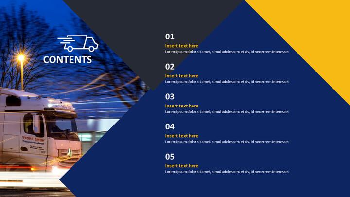 식품 유통 트럭 - 무료 PowerPoint 템플릿 디자인_02