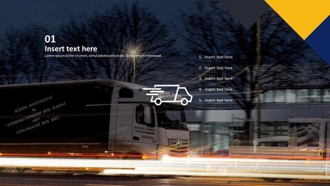 식품 유통 트럭 - 무료 PowerPoint 템플릿 디자인_03