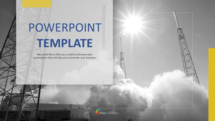 무료 PPT 샘플 - 로켓 발사_01