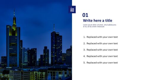Free PPT Template Design - Night View of Skyscraper_03