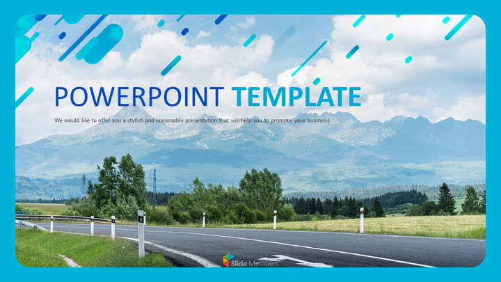 Highway on a Chill Weekend - Free Powerpoint Template_01