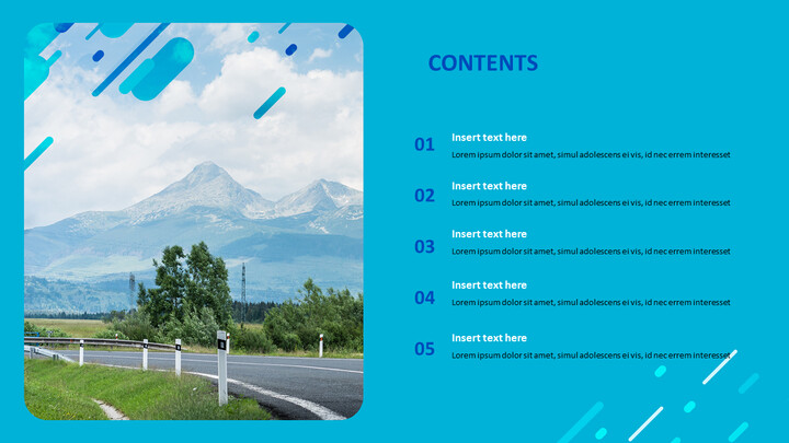 Highway on a Chill Weekend - Free Powerpoint Template_02