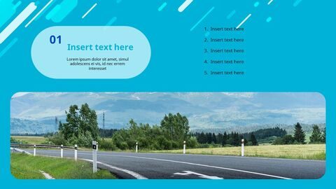 Highway on a Chill Weekend - Free Powerpoint Template_03