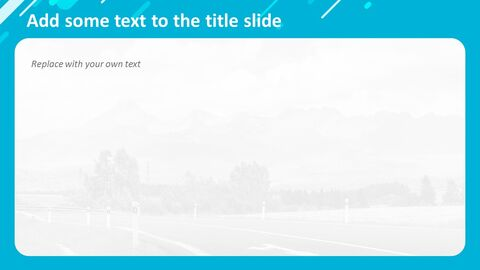 Highway on a Chill Weekend - Free Powerpoint Template_04