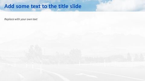 Highway on a Chill Weekend - Free Powerpoint Template_05