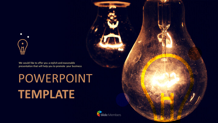 Lightbulb Brightening Dark - Free Powerpoint Template_01