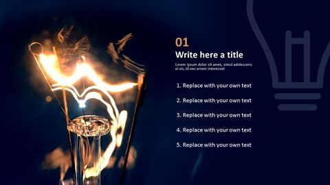 Lightbulb Brightening Dark - Free Powerpoint Template_03