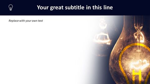 Lightbulb Brightening Dark - Free Powerpoint Template_04