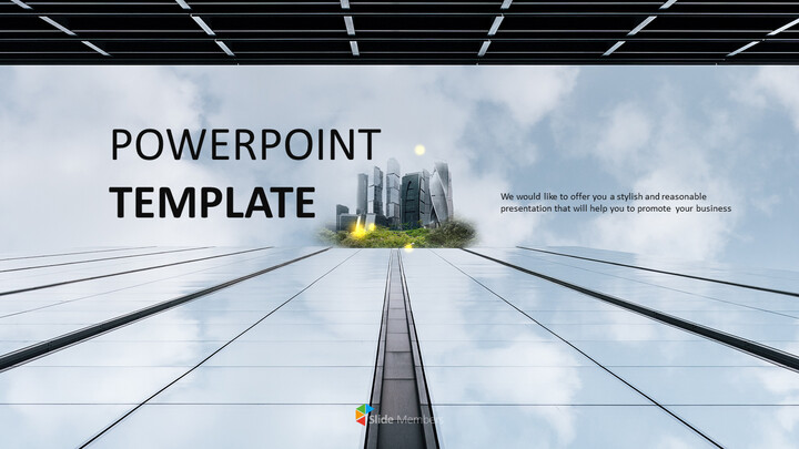 PPT Template Free - Dull Sky in the Building_01