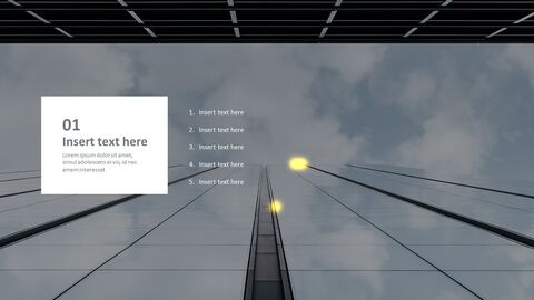 PPT Template Free - Dull Sky in the Building_03