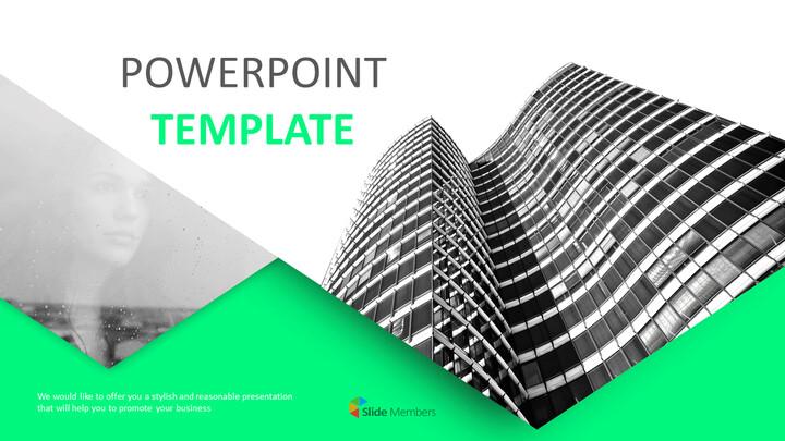 마천루 - 무료 PowerPoint 템플릿_01