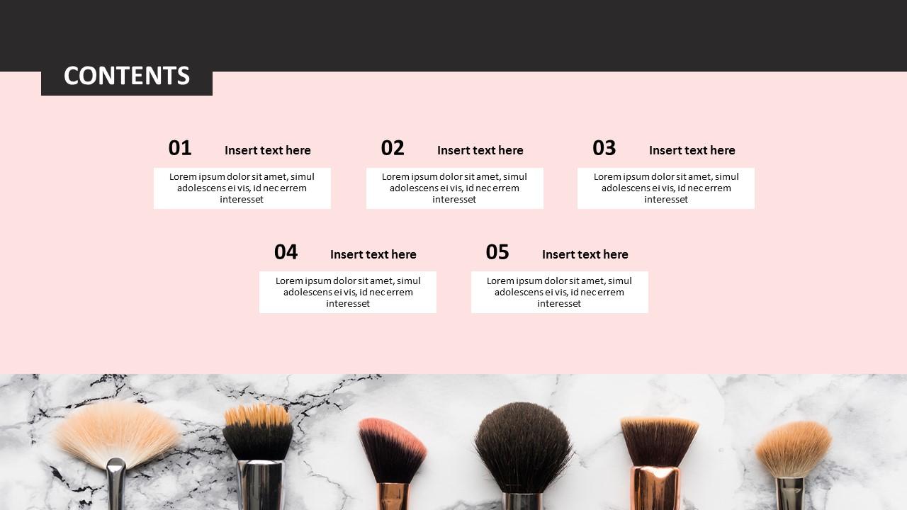 Various Makeup Brushes Ppt Download Free