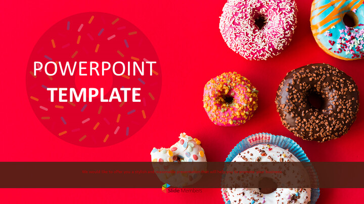Donuts with Diverse Colors - Free Powerpoint Template_01