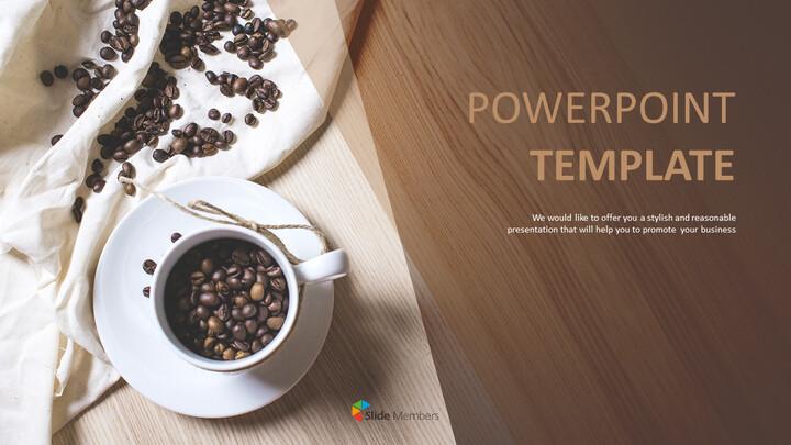 향기로운 커피 콩 - 파워포인트 이미지 무료 다운로드_01