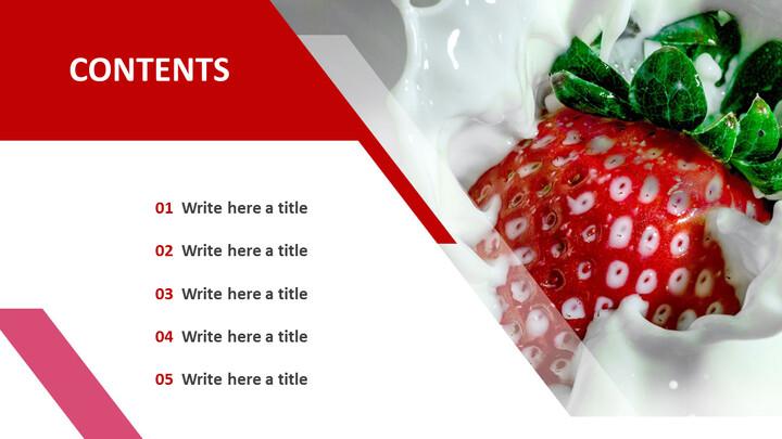 파워포인트에 사용가능한 무료 이미지 - 딸기와 우유_02