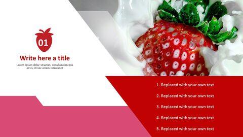 파워포인트에 사용가능한 무료 이미지 - 딸기와 우유_03