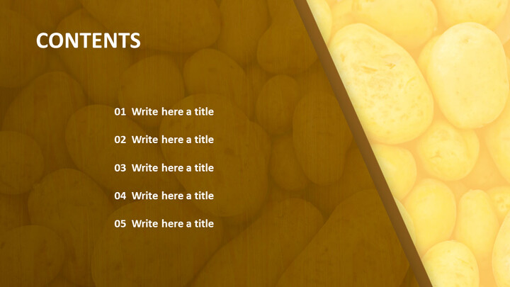 Free PowerPoint Template Design - Fresh Potato_02