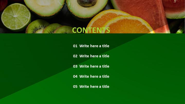 무료 파워포인트 템플릿 다운로드 - 신선한 과일과 야채_02