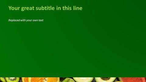 무료 파워포인트 템플릿 다운로드 - 신선한 과일과 야채_04