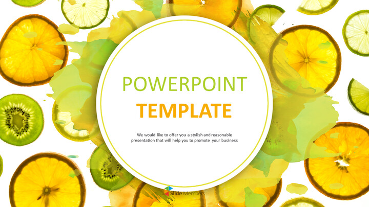 Free PPT Sample - Fresh Fruits_01