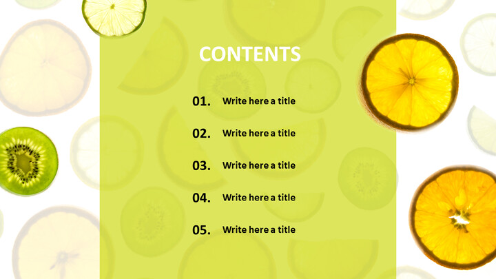 Free PPT Sample - Fresh Fruits_02