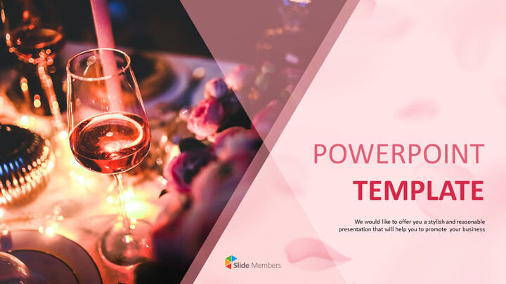 PowerPoint Template Free Download - Party with Wines_01