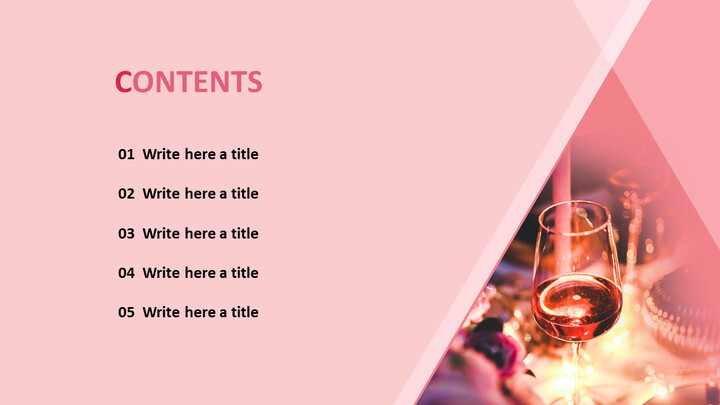 PowerPoint Template Free Download - Party with Wines_02