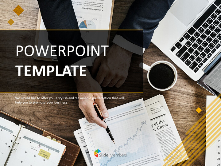 Business Chart - Free PowerPoint Template Download_01