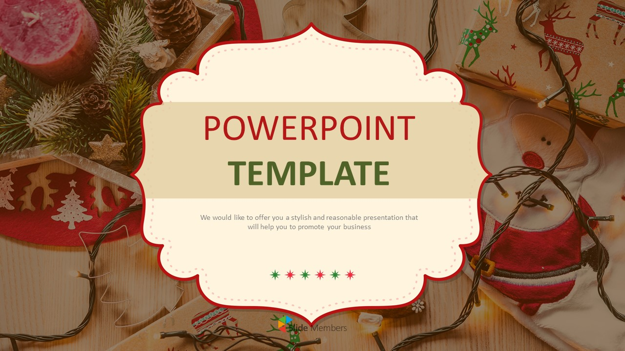 Christmas Decoration Ppt Templates Free Download