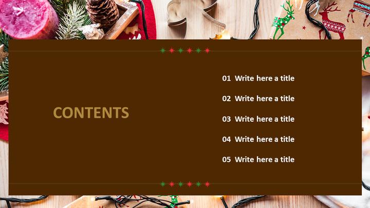 크리스마스 장식 - PPT 템플릿 무료 다운로드_02