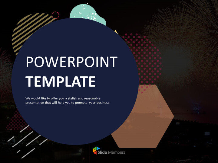 Firework and Illust - Free PPT Template Design_01