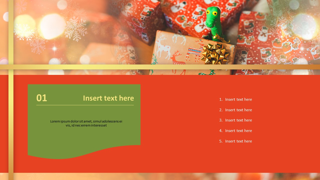 Free Powerpoint Templates Cute Christmas Gift