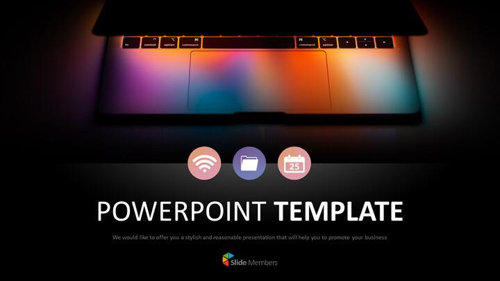 노트북 라이트 - 무료 <span class=\'highlight\'>PPT</span> 템플릿 디자인_01