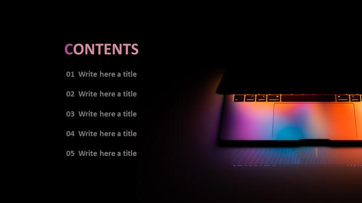 노트북 라이트 - 무료 <span class=\'highlight\'>PPT</span> 템플릿 디자인_02