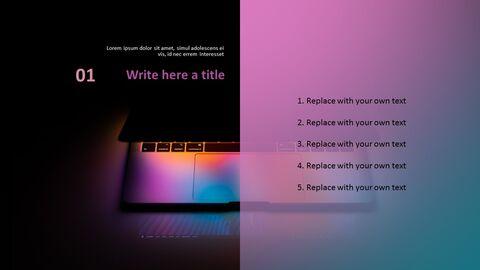 노트북 라이트 - 무료 <span class=\'highlight\'>PPT</span> 템플릿 디자인_03