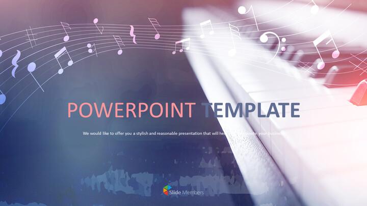 파워포인트 프레젠테이션 다운로드 무료 - 피아노_01