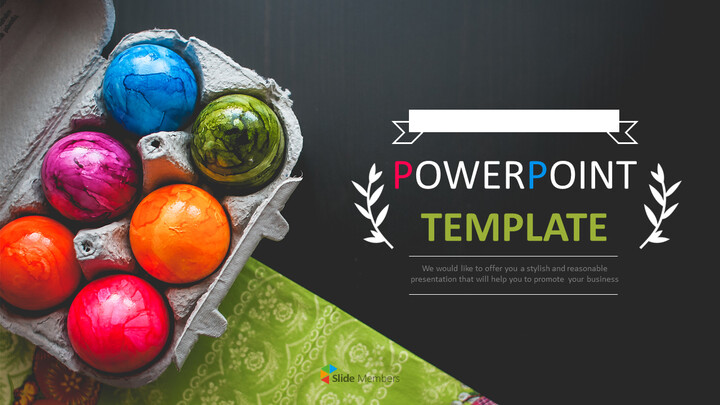 PPT Templates Free Download - Colorful Easter Day Eggs_01